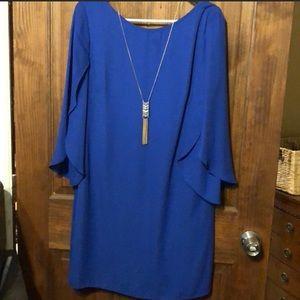 AB Studio Royal Blue Shift Dress Medium